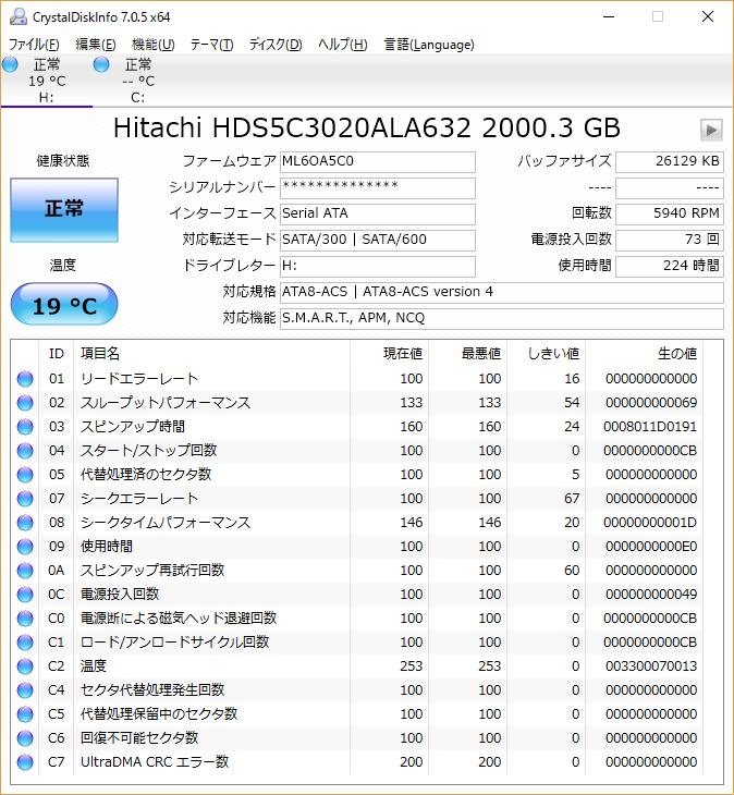 hds5c3020ala632 ファームウェア