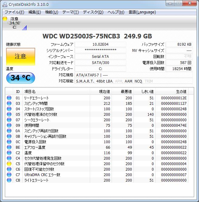 不 セクタ 数 可能 回復 HDDの回避不可能セクタ数が200
