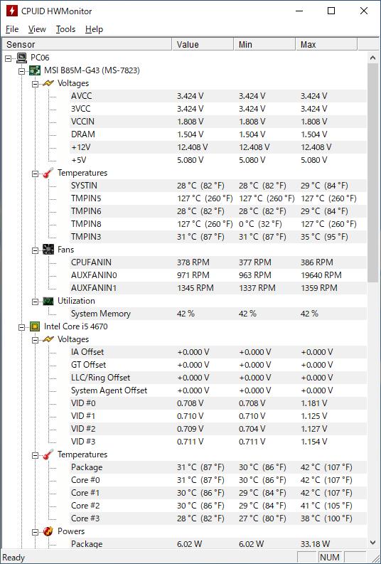 CPUの温度を計測するフリーソフト